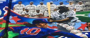 Negro League Mural of Homestead Grays and Indianapolis Clowns