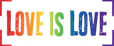 Love is Love in Rainbow colors