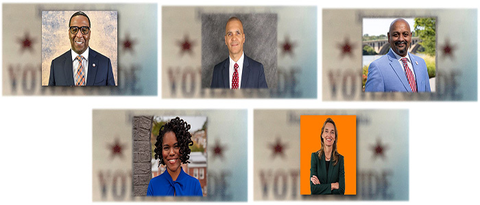 5 city council candidates