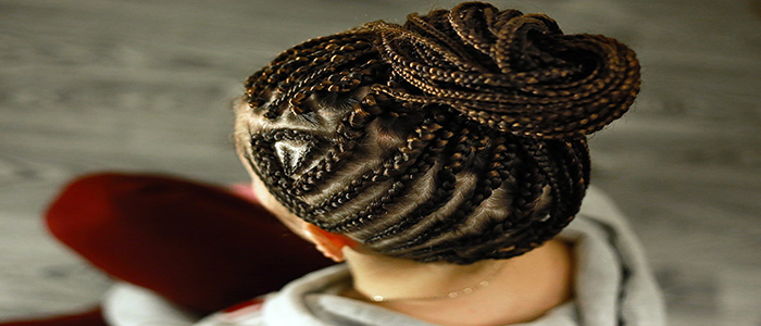 Image of Black braided hair