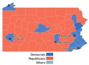 Voting precinct map of Pennsylvania