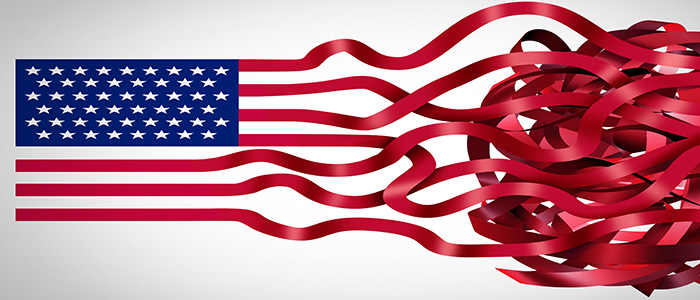 American Flag Unraveling