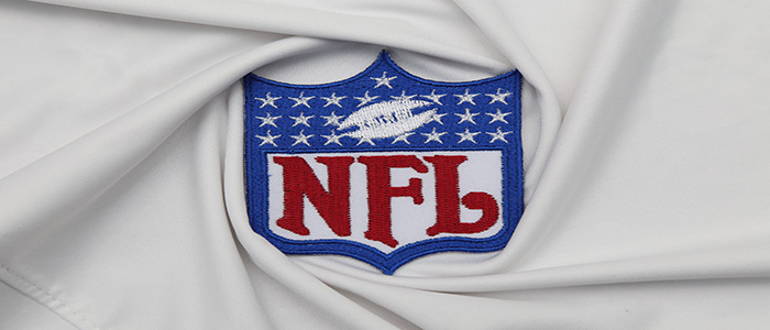 The Logo of NFL on the textile