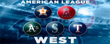 Major leauge Baseball AL West logos