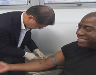 Magic Johnson getting HIV treatment