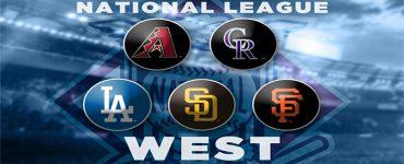 MLB National League West logos