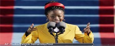 Amanada Gorman - poet laureate speaking at 2021 Presidential Inauguration
