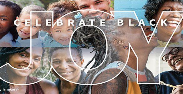 Images of Black faces expressing joy