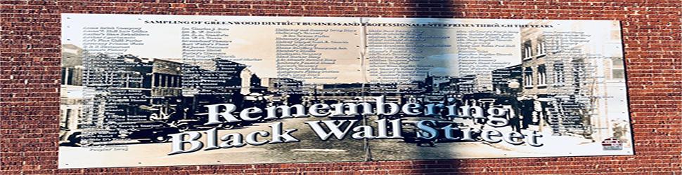 Remebering Black Wall Street. Banner